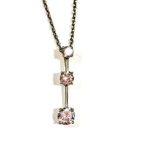 Sterling Silver 925 Tiered CZ Journey Necklace